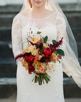 Red and Gold Wedding Bouquet