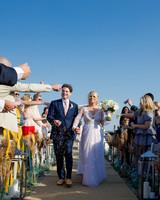 wedding recessional guests
