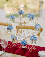 lara kjell circus party centerpiece decor flowers