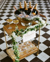lindsay evan wedding champagne cart