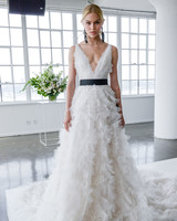 cb4e3434510 marchesa spring 2018 a-line wedding dress with ruffled skirt
