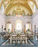 meki ian wedding michigan great hall tables