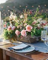 natasha nick wedding california centerpiece