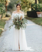 41 brides wearing off the shoulder wedding dresses martha stewart off the shoulder wedding dresses kreativ wedding junglespirit Image collections