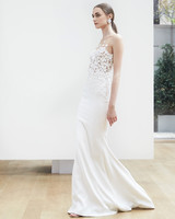 illusion trumpet Oscar de la Renta Spring 2018 Wedding Dress Collection