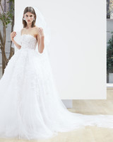 sweetheart ball gown Oscar de la Renta Spring 2018 Wedding Dress Collection