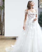 off the shoulder ball gown Oscar de la Renta Spring 2018 Wedding Dress Collection