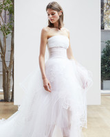 strapless short Oscar de la Renta Spring 2018 Wedding Dress Collection