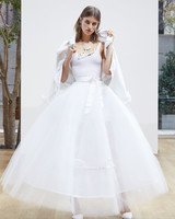 10 wedding dress trends from spring 2018 bridal fashion week tea length a line oscar de la renta spring 2018 wedding dress collection junglespirit Gallery