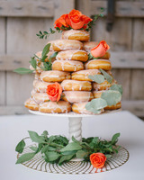 glazed donut tower