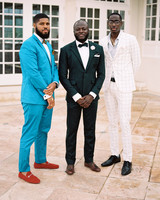 porsha terry wedding jamaica guests suits