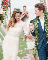 Matthew Morrison and Renee Puente Hawaiian wedding