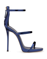 Giuseppi Zanotti Blue Patent Leather Sandals