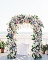 pastel floral ceremony arch