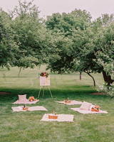 summer reception ideas picnic set up