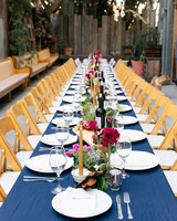 tashina huy colorful wedding reception table