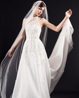 Temperley London simple white a-line wedding dress