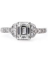 Claire Pettibone Emerald-Cut Engagement Ring