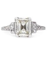 Trumpet & Horn Emerald-Cut Engagement Ring