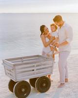 vicky james mexico couple son wagon beach