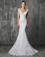 Victoria Kyriakides Embellished V-Neck Wedding Dress Fall 2018