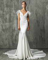 Victoria Kyriakides Sweetheart Trumpet Wedding Dress Fall 2018
