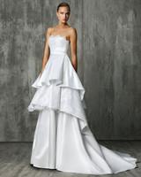 Victoria Kyriakides Tiered Halter Wedding Dress Fall 2018