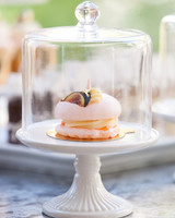 macaron topped with fig