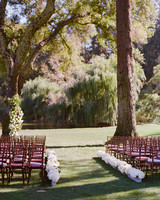 alessa andrew wedding ceremony aisle