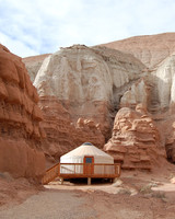yurt in canyon