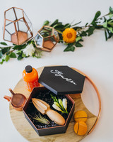 cocktail hour themed bridal party gift set