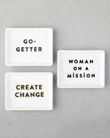 "West Elm ""Spirited Slogans"" Canape Plates"