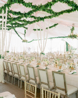 Overhead Trellis and Orchid Curtains