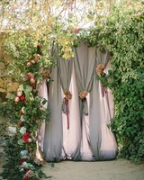 fabric doorway