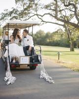 cassandra ben wedding california couple cart