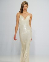 Christian Siriano Sequin Slip Gown