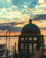 city honeymoon destinations boston harbor sunset