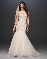 antique mermaid vneck wedding dress davids bridal galina Spring 2020