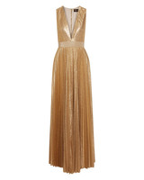 engagement party dress alice olivia gold metallic