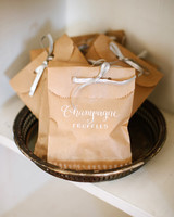 champagne truffles favor bag