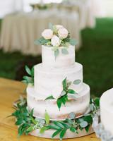 eucalyptus naked wedding cake garnish wrap