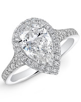 Forevermark Pear-Cut Engagement Ring