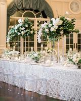 glamorous wedding ideas white lace table cover