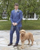 joyann jeremy wedding groom pet dog