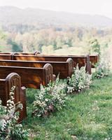 Larkin & Eric's Tennessee wedding - pews