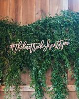 Laser-Cut Wedding Hashtag Sign