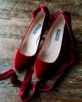 lauren christian christmas wedding velvet shoes bride