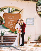 leather wedding ideas animal hide sign
