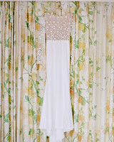 marianne patrick wedding dress hanging