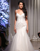 matthew christopher 2018 spaghetti strap trumpet wedding dress